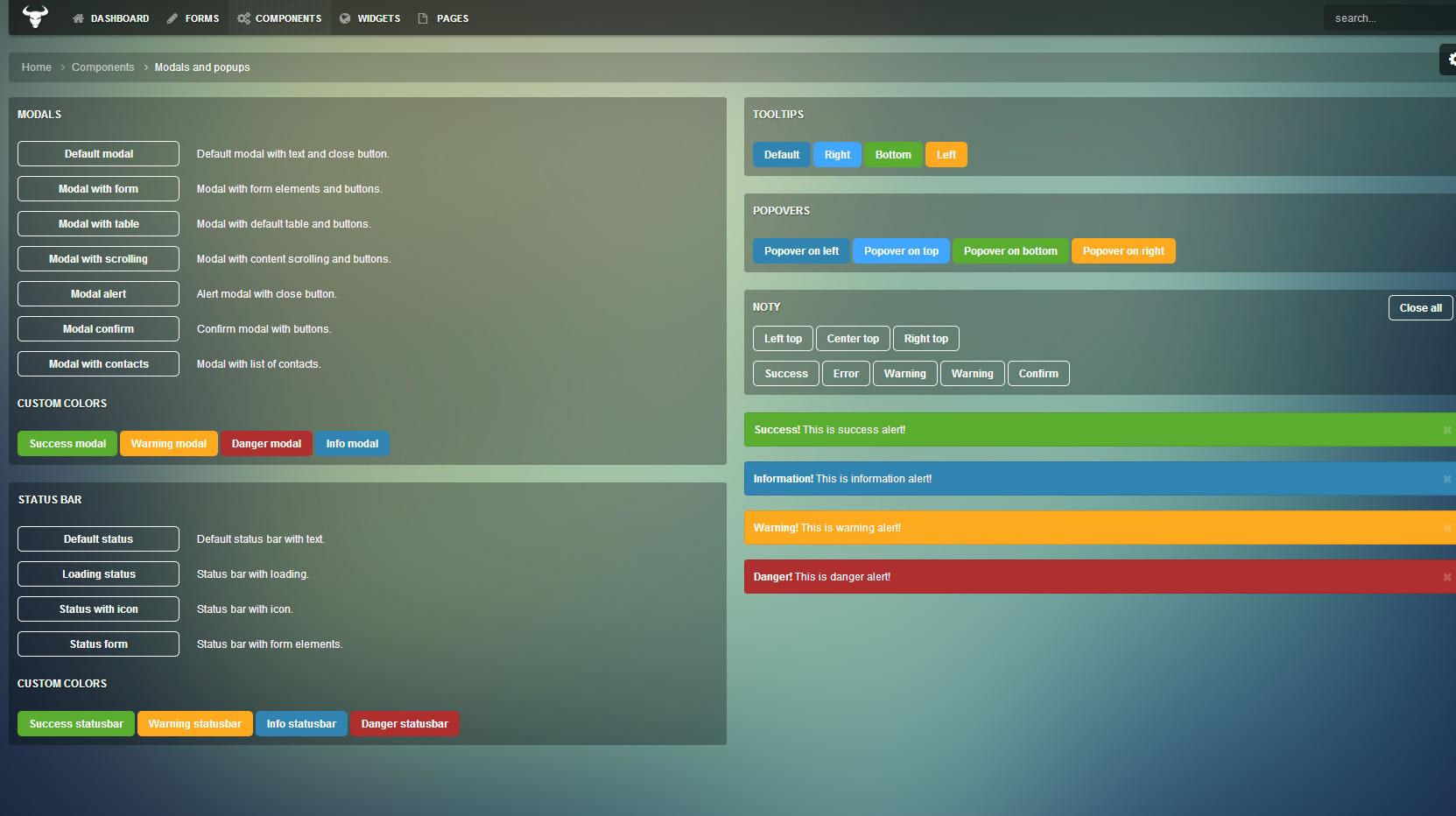 Taurus - Responsive Bootstrap 3.3.0 Admin Template by Aqvatarius ...