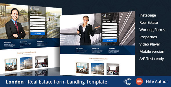 London Real Estate Landing Page - Instapage Marketing
