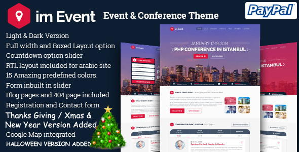 im Event - Event Conference Landing Page - Events Entertainment