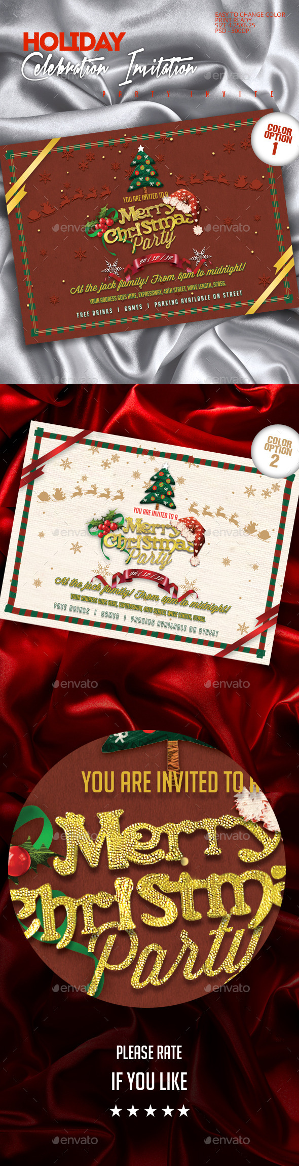 Christmas Party Invite Template - Invitations Cards & Invites