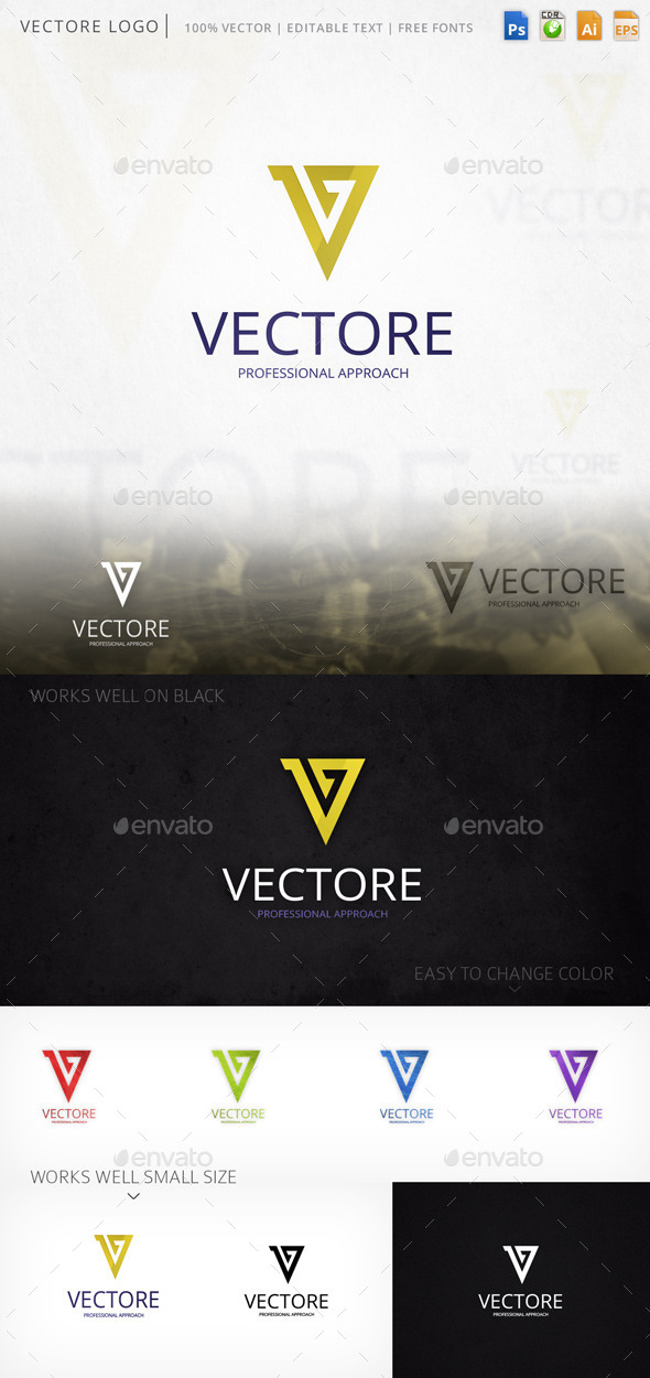 Vectore Letter V Logo Template - Letters Logo Templates