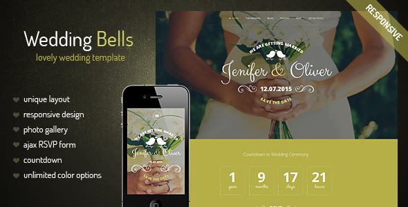 Wedding Bells – Responsive Wedding Template