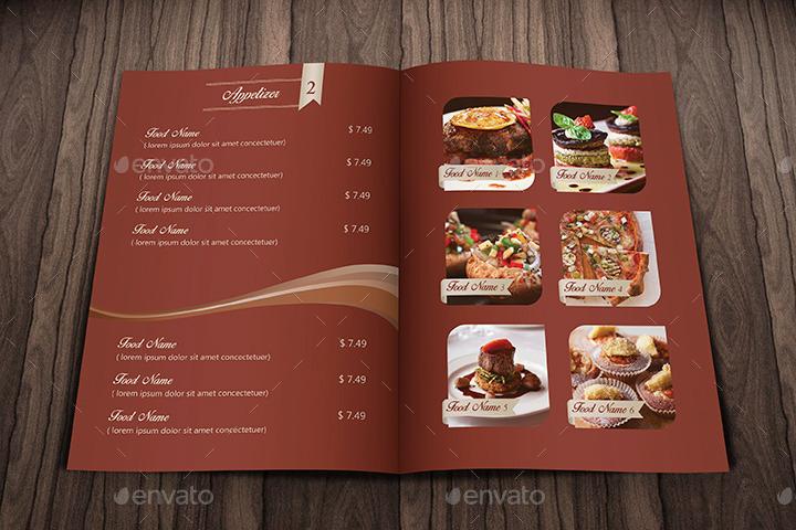 elegant food menu