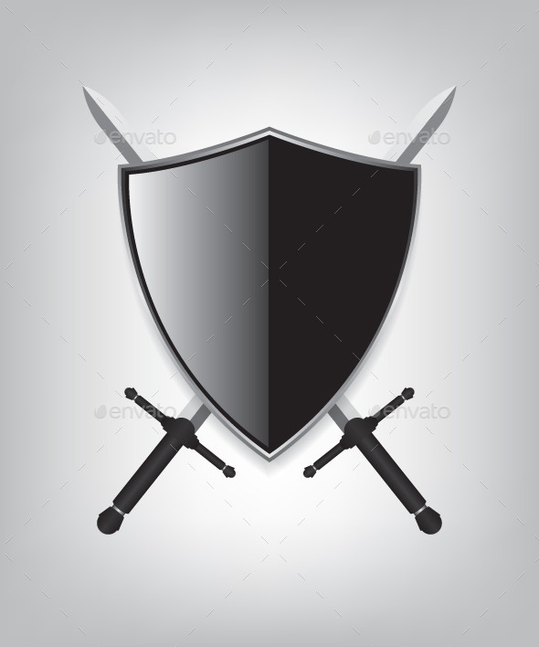 Shield and Sword - Objects Vectors