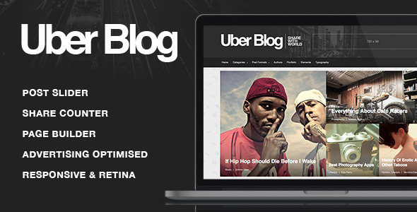 Uber Blog - Blog WordPress Theme - Personal Blog / Magazine