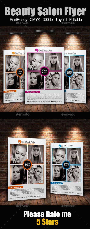 A4 Beauty Salon Flyer - Corporate Flyers