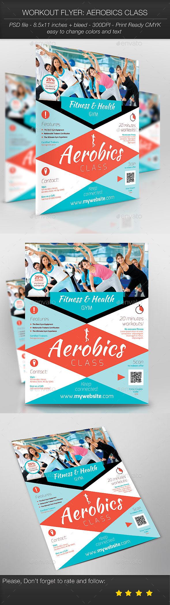 Workout Flyer: Aerobics Class - Sports Events
