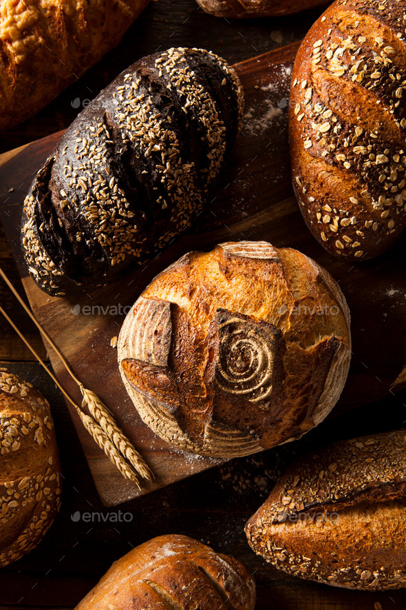 Freshly Baked Whole Wheat Bread - Stock Photo - Images