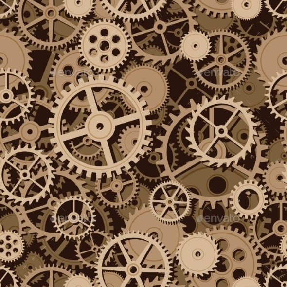 Gears Seamless Background - Backgrounds Decorative