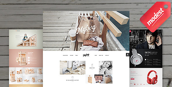 Modest Shop – 3 in 1 eCommerce PSD Templates