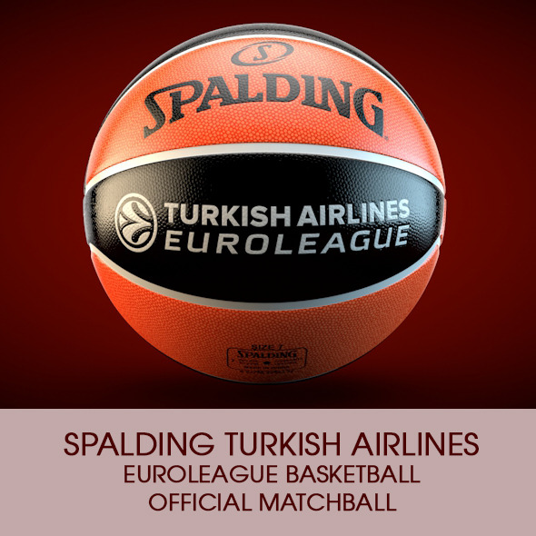 Spalding Euroleague Basketball Official ball - 3DOcean Item for Sale