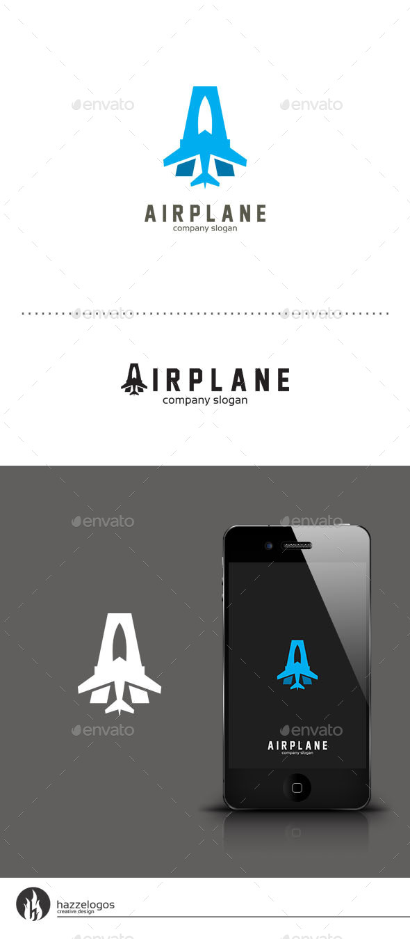 Airplane - Letter A Logo - Letters Logo Templates