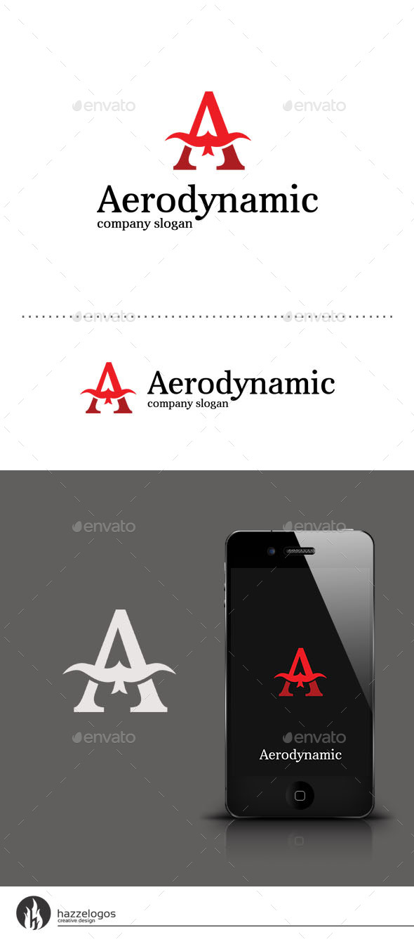 Aerodynamic - Letter A Logo - Letters Logo Templates