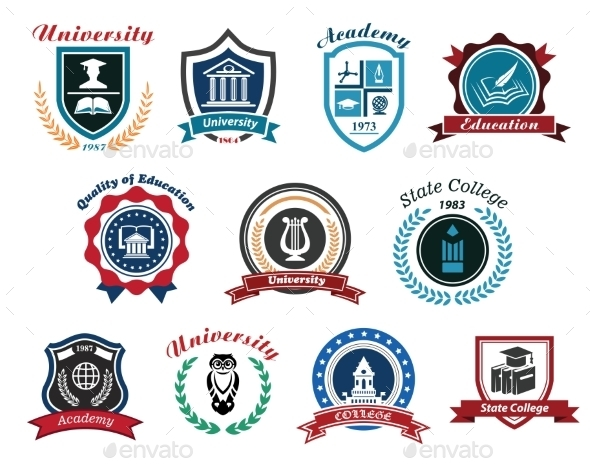 University, Academy and College Emblems - Miscellaneous Conceptual