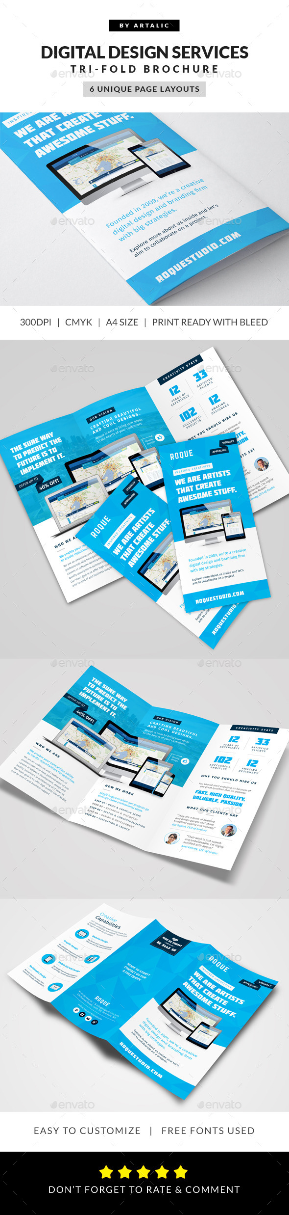 Web Design Agency Brochure - Informational Brochures