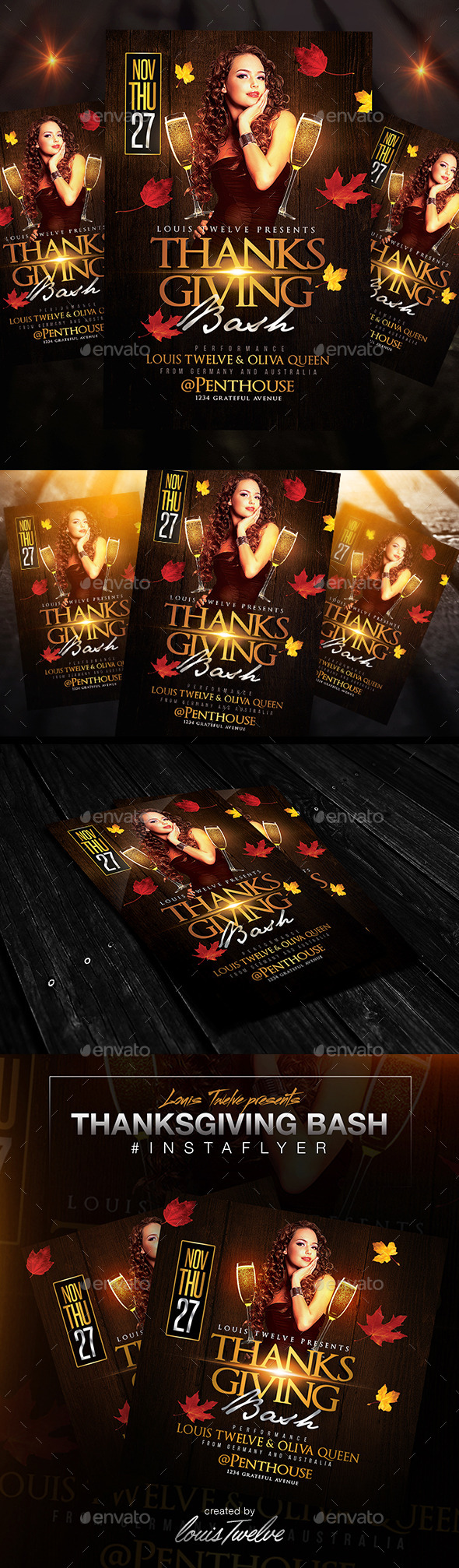 Thanksgiving Bash Flyer + Instapromo - Holidays Events