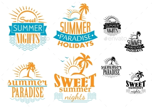 Summer, Travel and Vacation Badges - Travel Conceptual