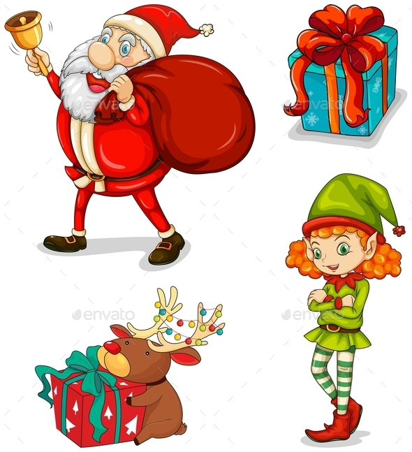 Four Christmas Symbols - People Characters