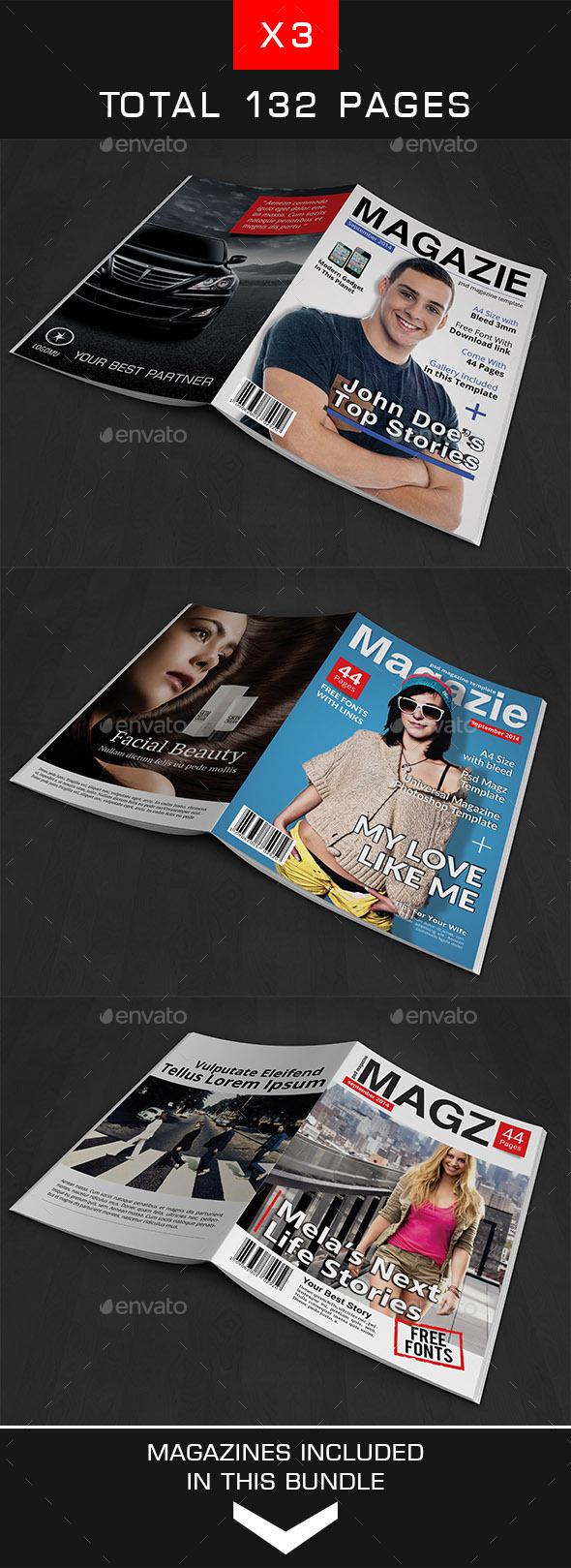 A4 Magazine Bundle Vol 2 - Magazines Print Templates
