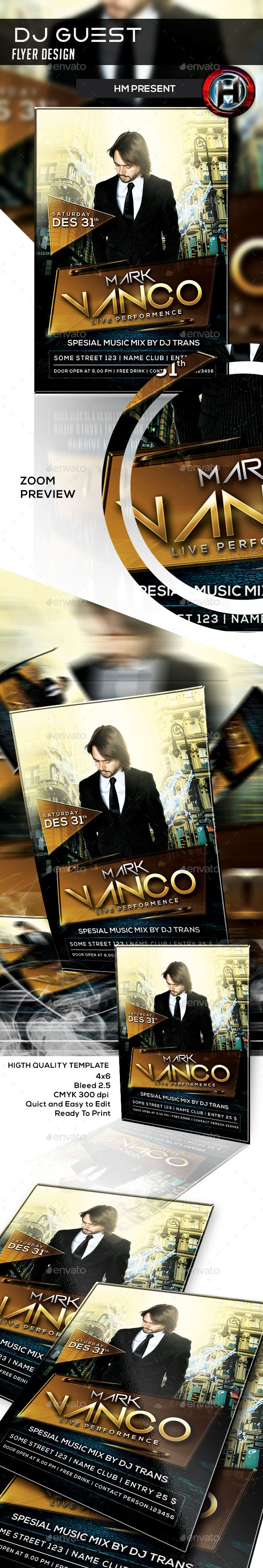 DJ Guest Flyer Design  - Events Flyers
