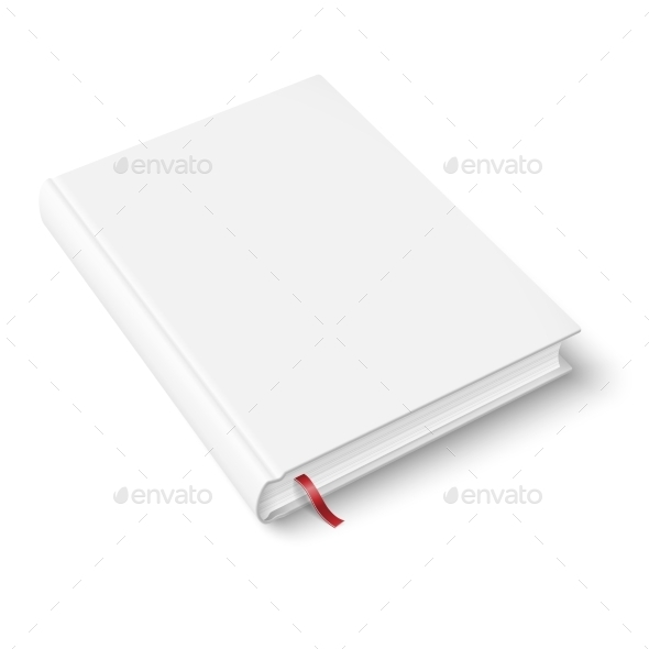 Blank Book Template with Bookmark - Man-made Objects Objects