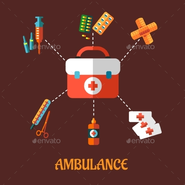 Ambulance Icons - Health/Medicine Conceptual