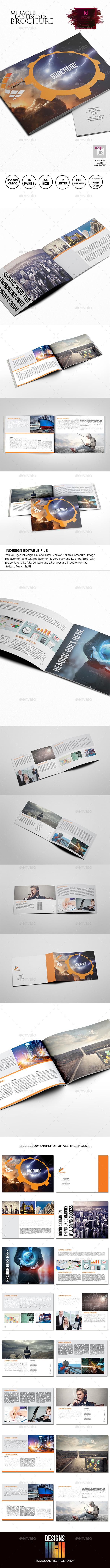 Miracle Landscape Multipurpose Brochure - Informational Brochures