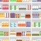 Various Pills and Drugs on Shelves - GraphicRiver Item for Sale