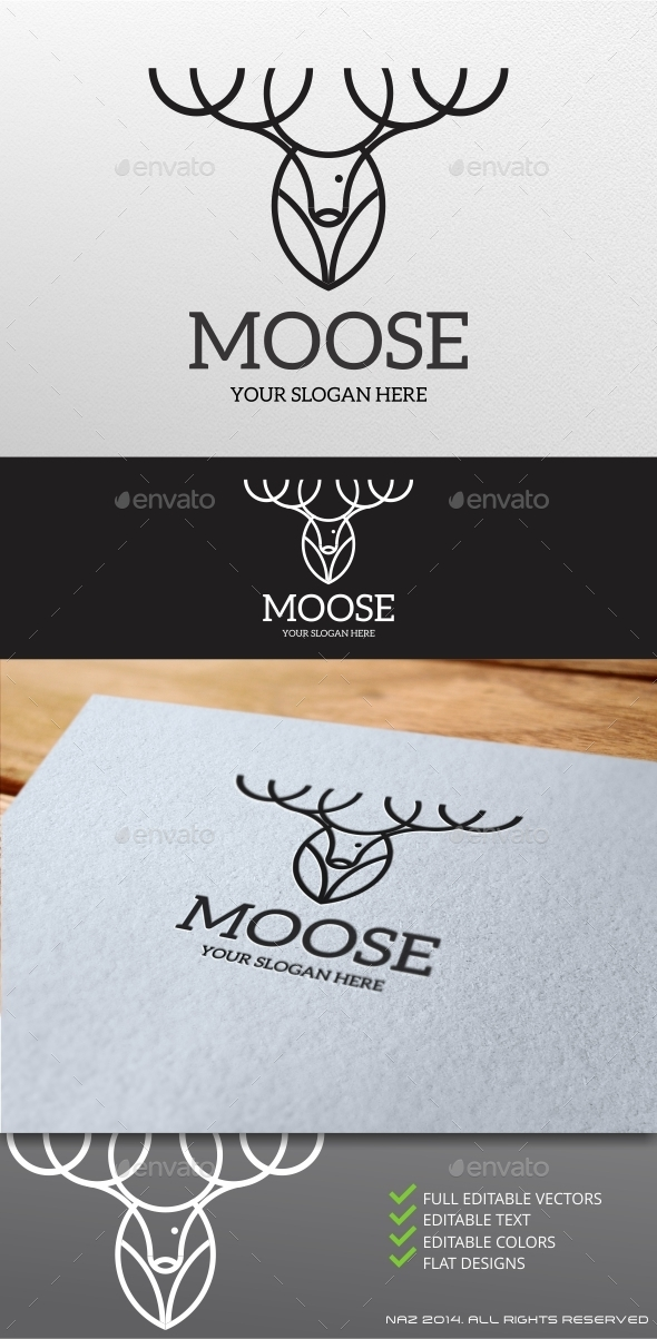 Moose Logo - Animals Logo Templates