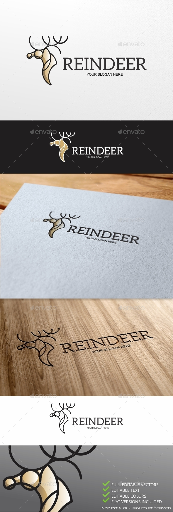 Reindeer Logo - Animals Logo Templates