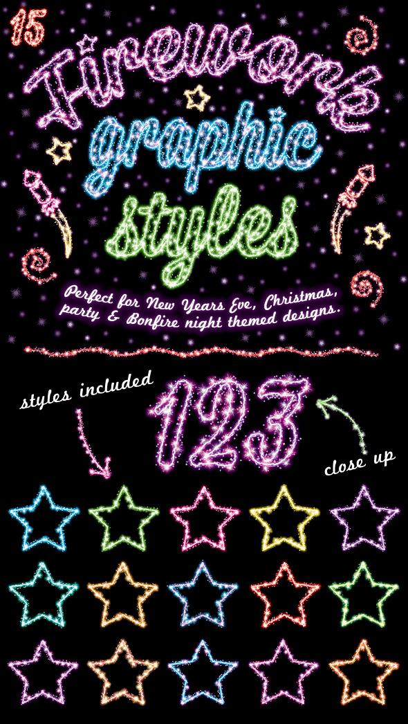 Firework Graphic Styles - Styles Illustrator