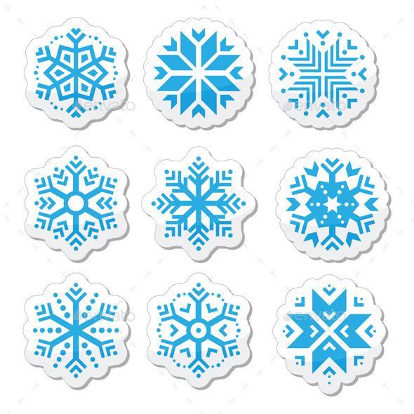 Snowflakes Icons  - Christmas Seasons/Holidays