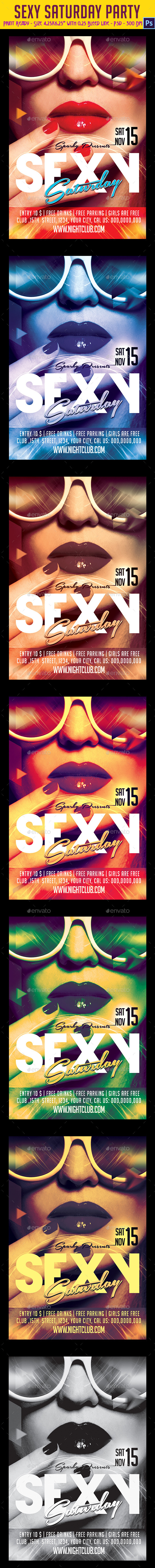 Sexy Saturdays Party Flyer - Clubs & Parties Events
