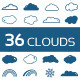 36 Clouds Shapes Add-ons - GraphicRiver Item for Sale