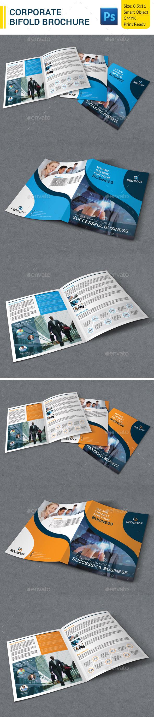 Corporate Business Bifold Brochure - Corporate Brochures