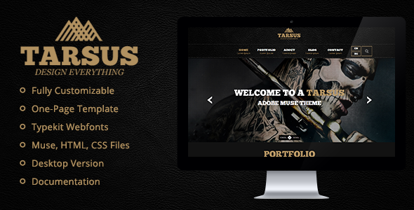 Tarsus - Creative One Page Muse Template