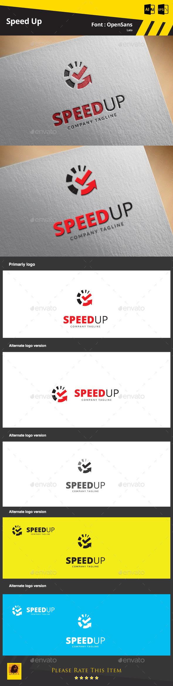 Speed Up Logo Template - Symbols Logo Templates