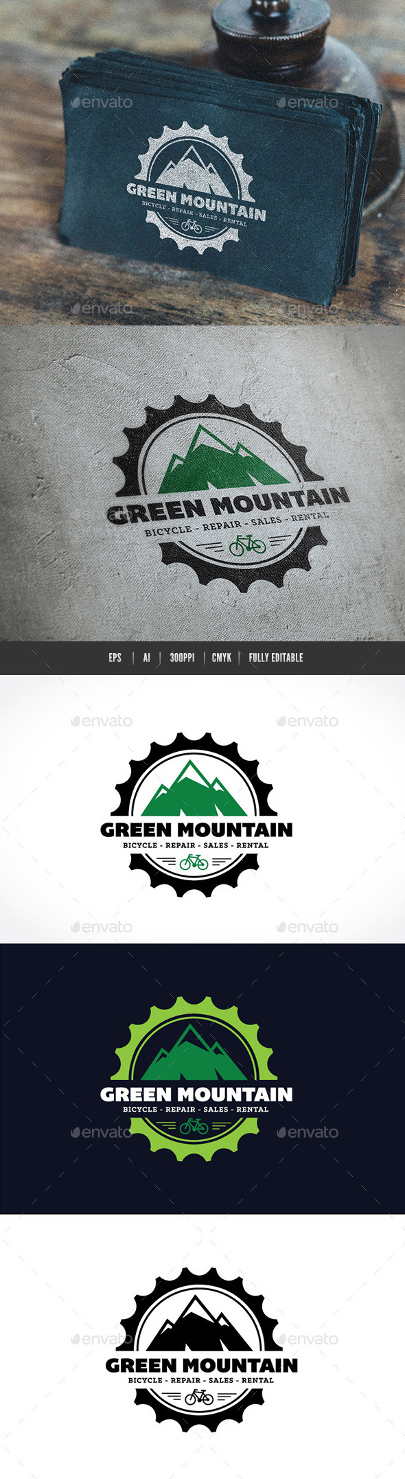 Green Mountain Logo - Crests Logo Templates