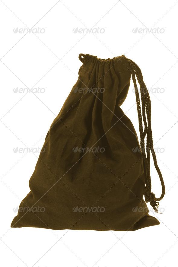 Drawstring Bag - Stock Photo - Images
