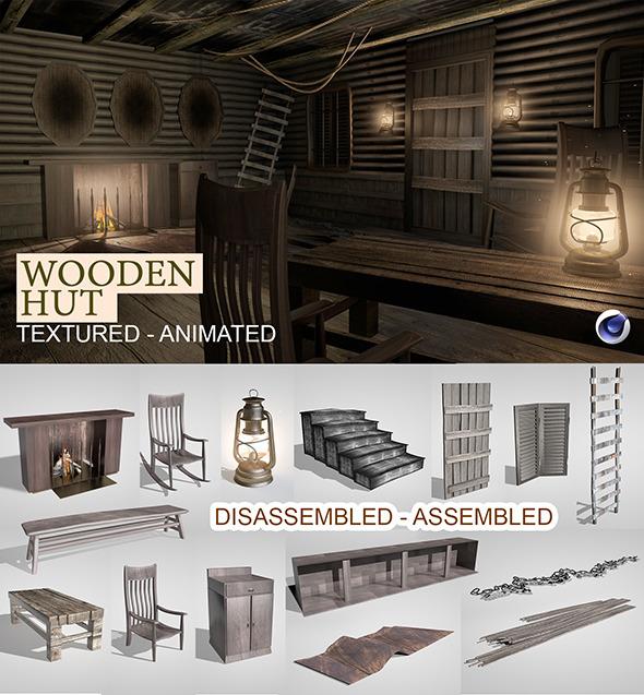 Wooden Hut Render Setup - 3DOcean Item for Sale