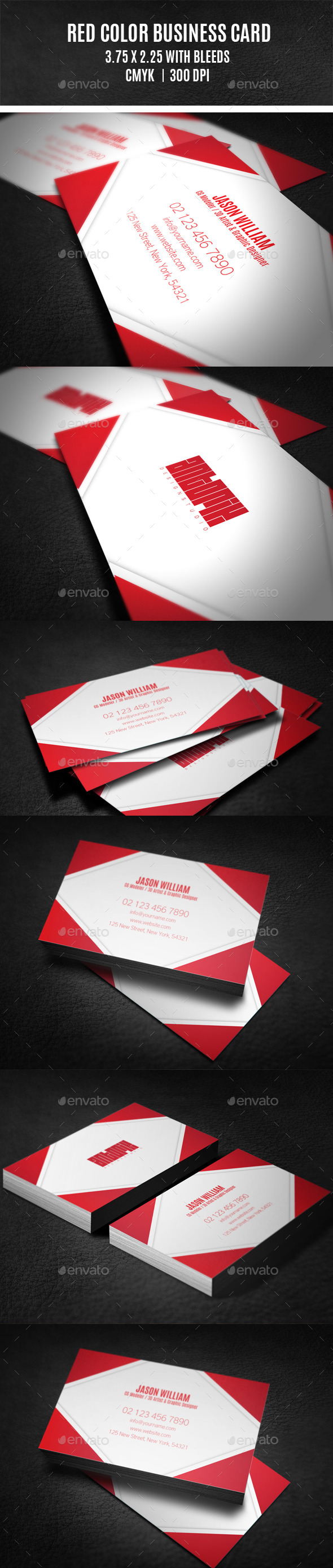 Red Color Business Card - Creative Business Cards