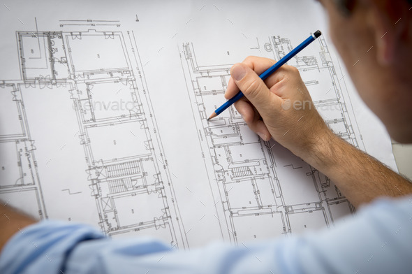 Architect Designing A New Building - Stock Photo - Images