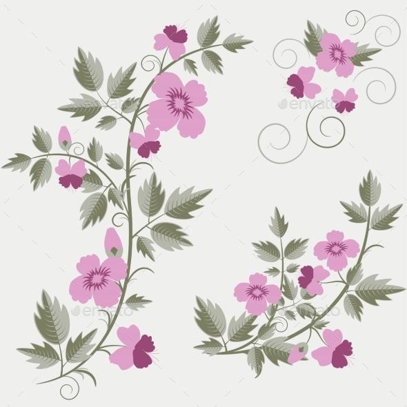 Floral Elements - Flowers & Plants Nature
