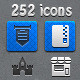 252 Pixel Perfect Icons - GraphicRiver Item for Sale