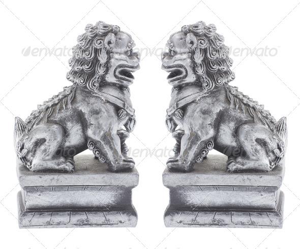 Fu dog Figurines - Stock Photo - Images