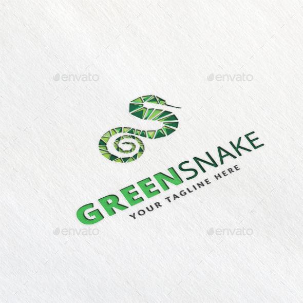 Green Snake Logo Template