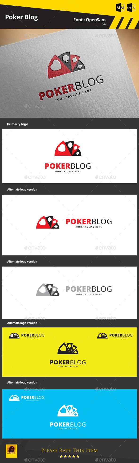 Poker Blog Logo Template - Symbols Logo Templates