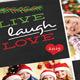 Christmas Postcard (Chalkboard) - GraphicRiver Item for Sale