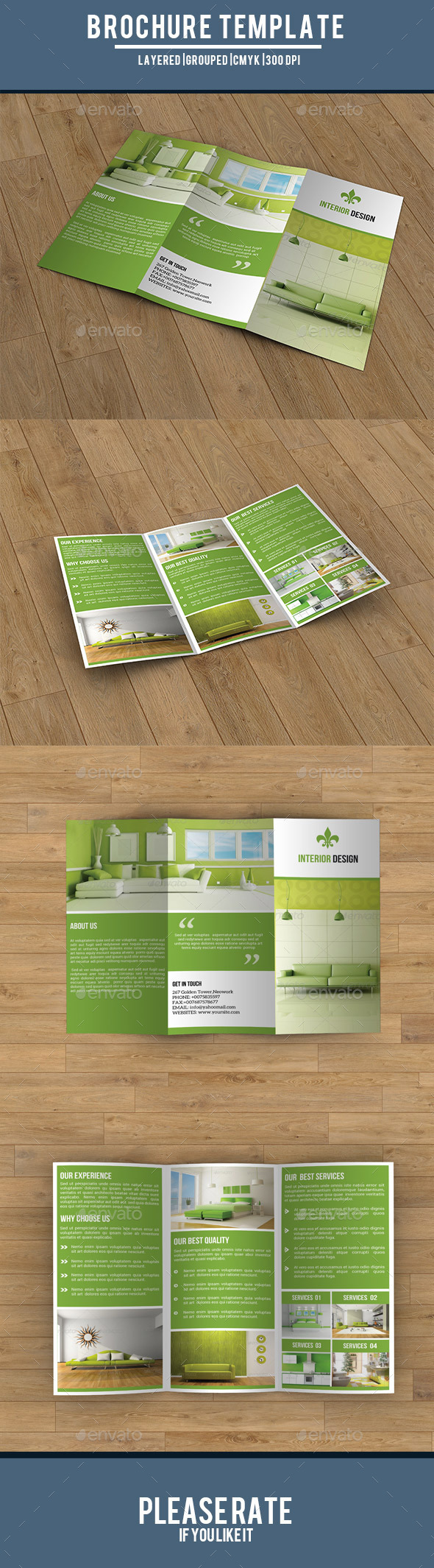 Trifold Interior Brochure-V182 - Corporate Brochures