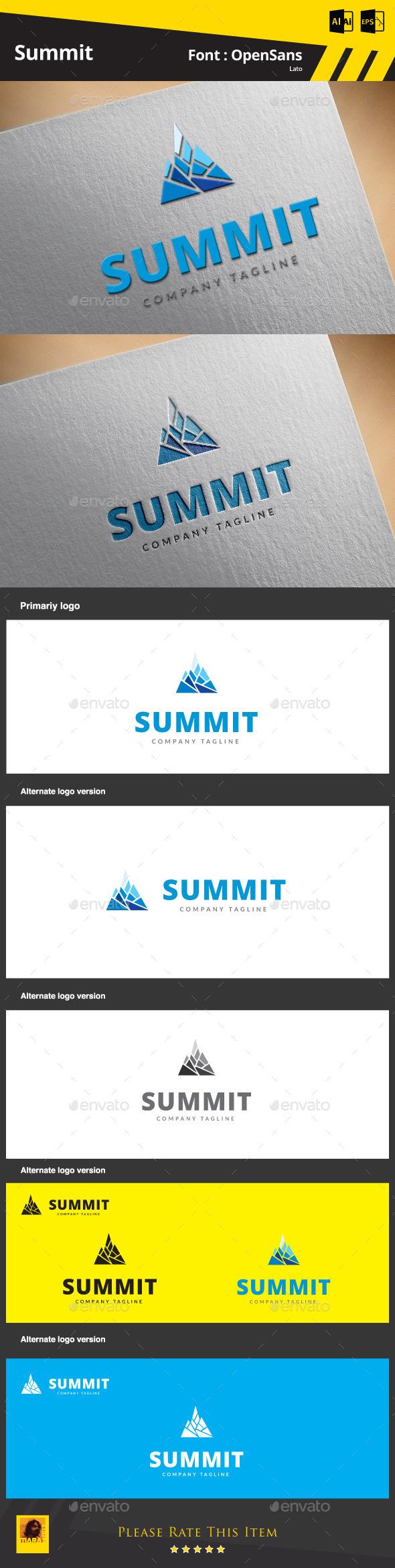 Summit Logo Template - Symbols Logo Templates